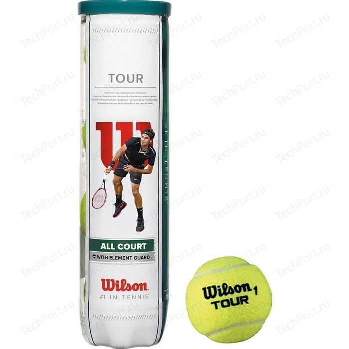 Мяч для большого тенниса Wilson All Court 4B (WRT115700) 4 мяча
