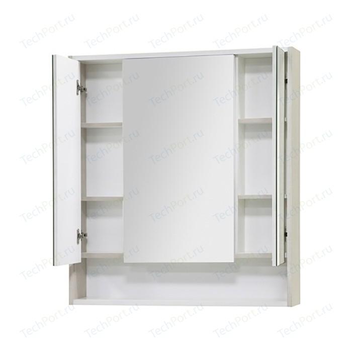 Зеркальный шкаф Акватон Рико 80 белый/ясень фабрик (1A215302RIB90)