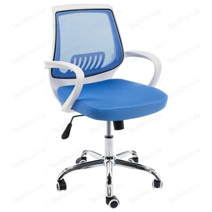 Компьютерное кресло Woodville Ergoplus белое/голубое