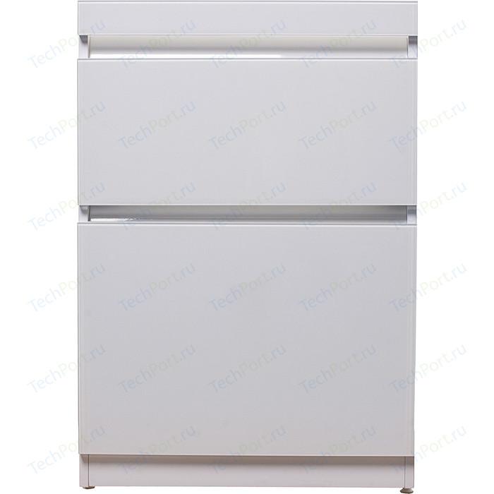 Тумба под раковину Style line Даймонд Люкс 58 (120) белая, стиральную машину (2000949105666)