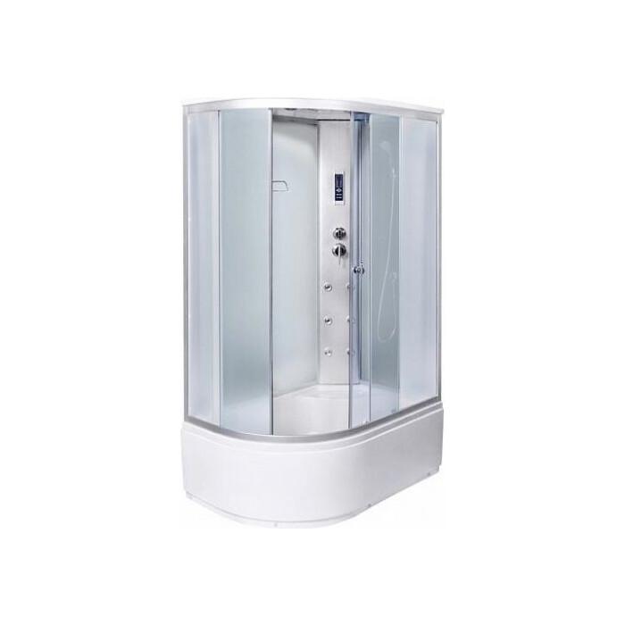 Душевая кабина Aqualux MODO-120 матовое стекло, заднее стекло белое (AQ-4072GFR-Wh)
