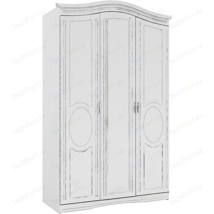 Шкаф трехдверный Комфорт - S Гертруда М 2 белая лиственница/ясень жемчужный