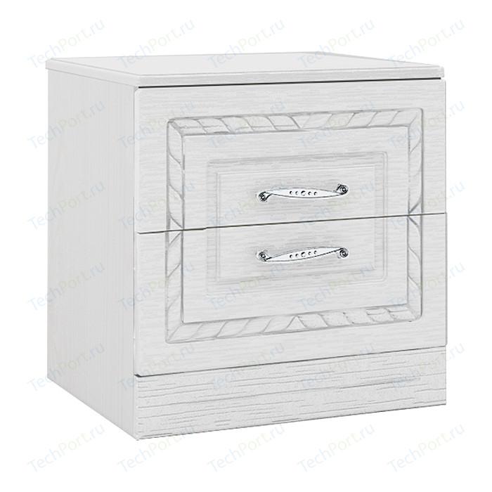 Тумба прикроватная Комфорт - S Гертруда М 5 белая лиственница/ясень жемчужный