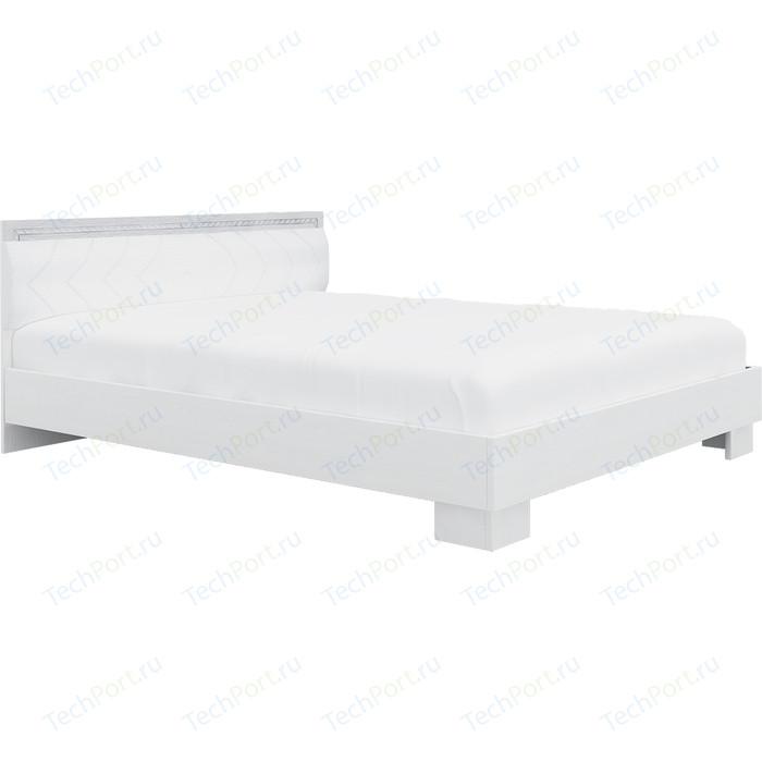 Кровать Комфорт - S Гертруда М 9 140 белая лиственница/ясень жемчужный