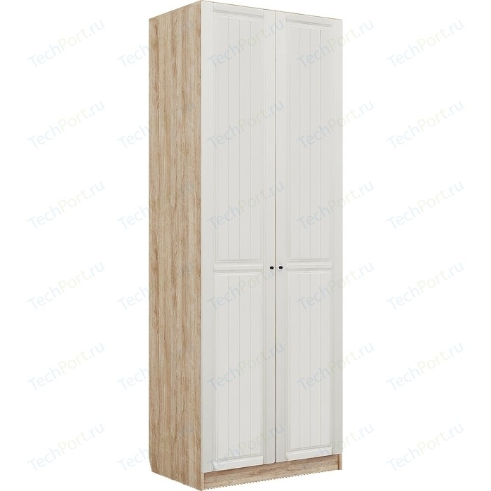 Шкаф гардеробный Комфорт - S Богуслава М 2 дуб баррик светлый/крем брюле