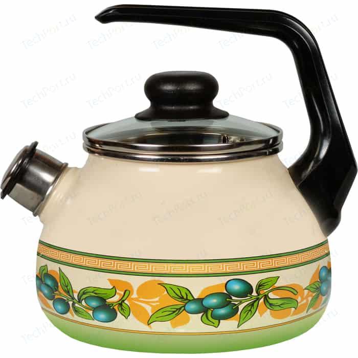 Чайник эмалированный со свистком 3.0 л Vitross Oliva 1RC12