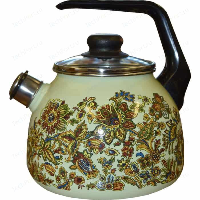 Чайник эмалированный со свистком 3.0 л Vitross Imperio салатовый 1RC12
