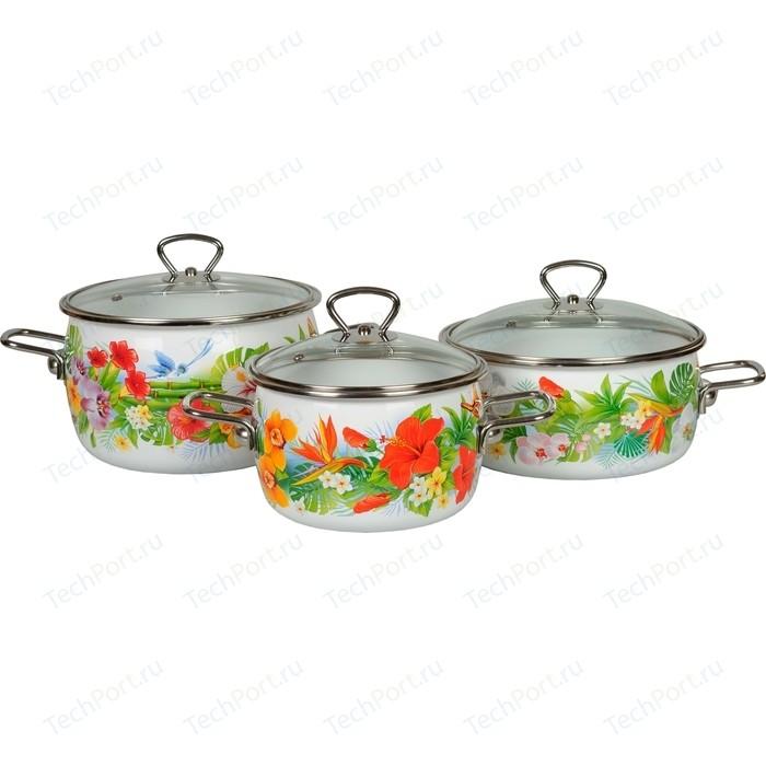 Набор эмалированной посуды 3 предмета Vitross №13 Tropicana 1DA135S