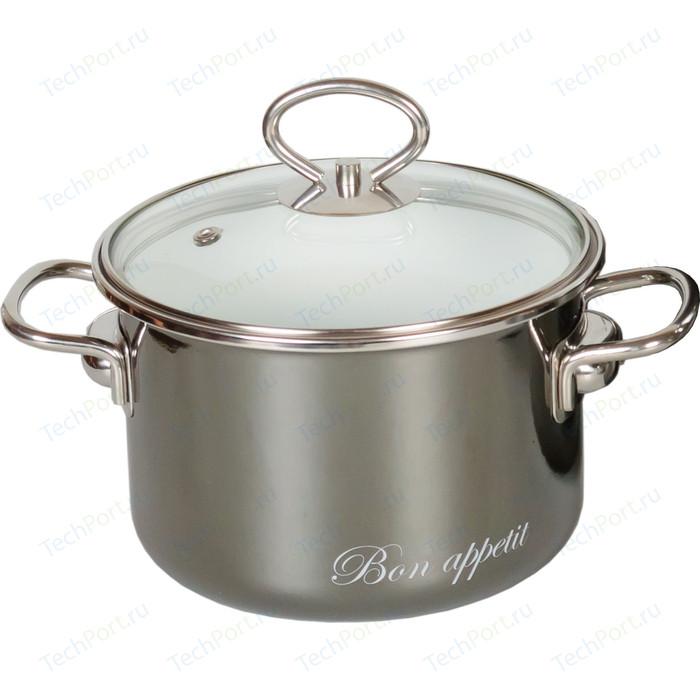 Фото - Кастрюля эмалированная 2.0 л Vitross Bon Appetit мокрый асфальт 8SB185S чайник со свистком bon appetit 2л мокрый асфальт