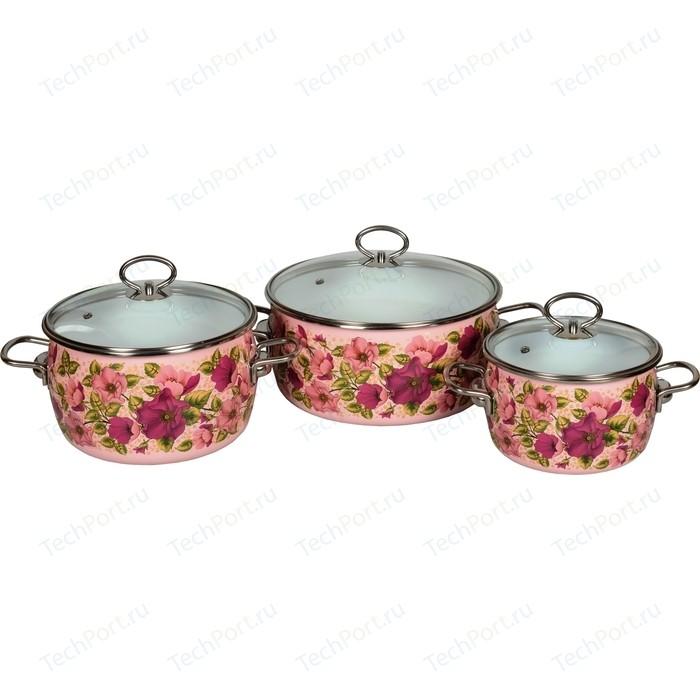 Набор эмалированной посуды 3 предмета Vitross №03 Violeta розовый 8DA035S