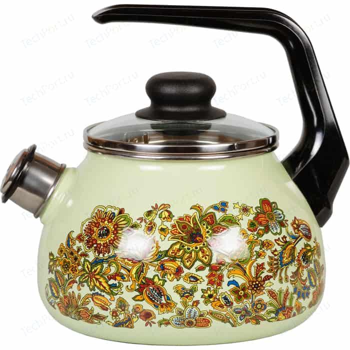 Чайник эмалированный со свистком 2.0 л Vitross Imperio салатовый 1RA12