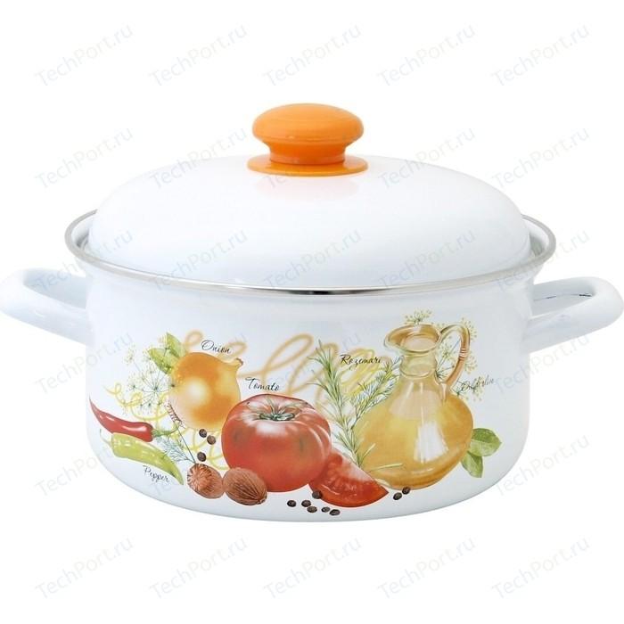 Кастрюля эмалированная 3.0 л Лысьвенские эмали Итальянская кухня 1512АП2/4