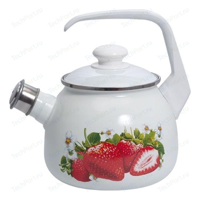 Чайник эмалированный 2.5 л Лысьвенские эмали Сочная клубника 2711АП/4