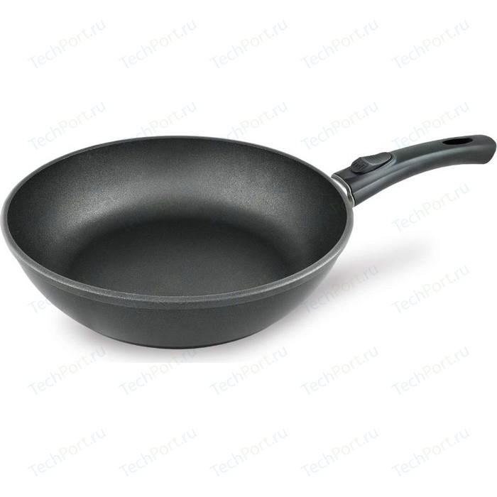 Сковорода со съемной ручкой НМП d 28см Комфортная (7028к) сковорода гриль со съемной ручкой нмп d 26см ферра 54026