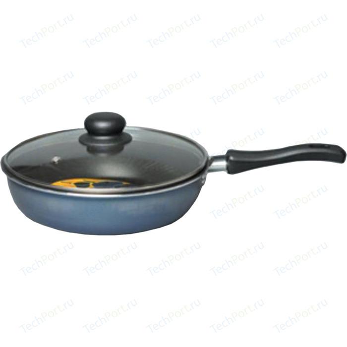 Сковорода с крышкой Калитва d 22см Сатин- Экономика (67223)