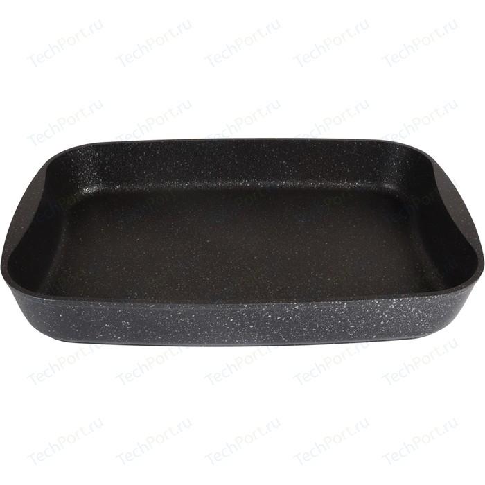 Противень 36.5х26х5.5 см Kukmara Темный мрамор (пмт02а)