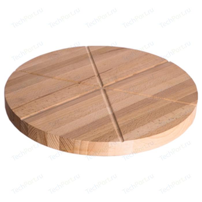 Доска для пиццы бук 32 см круглая Топаз Америка (50158)