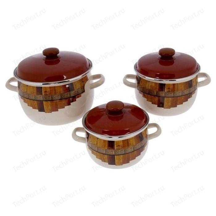 Набор эмалированной посуды 3 предмета Idilia Тын (I946)