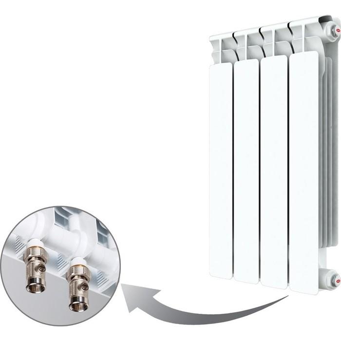 Радиатор отопления RIFAR ALP VENTIL 500 4 секции биметаллический нижнее правое подключение (R50004AVR) биметаллический радиатор rifar рифар b 500 нп 10 сек лев кол во секций 10 мощность вт 2040 подключение левое