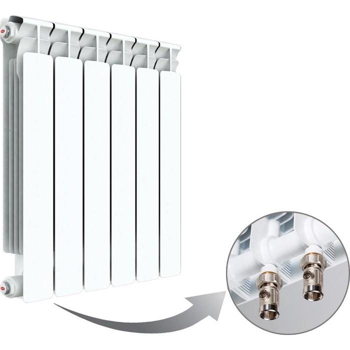 Радиатор отопления RIFAR ALP VENTIL 500 6 секций биметаллический нижнее левое подключение (R50006AVL) биметаллический радиатор rifar рифар b 500 нп 10 сек лев кол во секций 10 мощность вт 2040 подключение левое