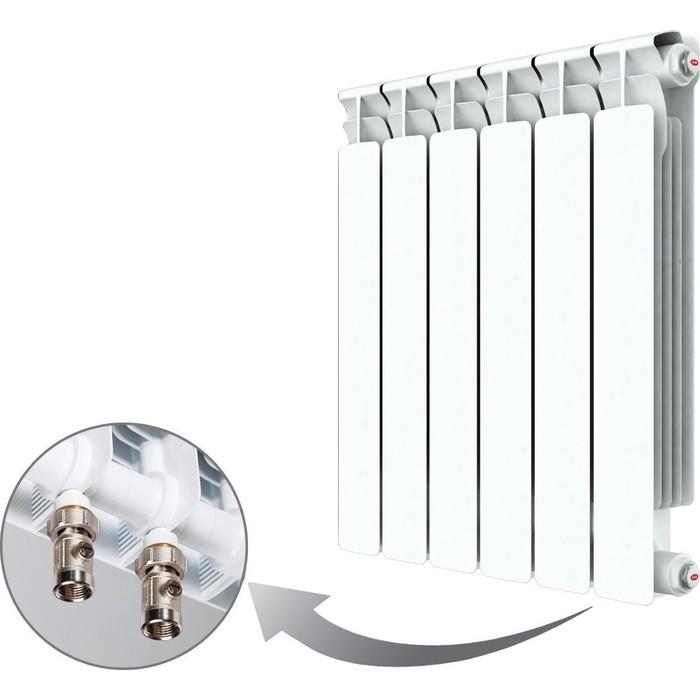 Радиатор отопления RIFAR ALP VENTIL 500 6 секций биметаллический нижнее правое подключение (R50006AVR) радиатор отопления rifar monolit ventil 500 6 секций биметаллический нижнее правое подключение rm50006 нп50