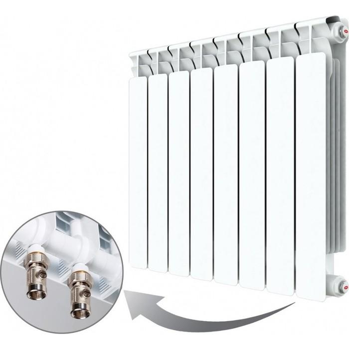 Радиатор отопления RIFAR ALP VENTIL 500 8 секций биметаллический нижнее правое подключение (R50008AVR) биметаллический радиатор rifar рифар b 500 нп 10 сек лев кол во секций 10 мощность вт 2040 подключение левое