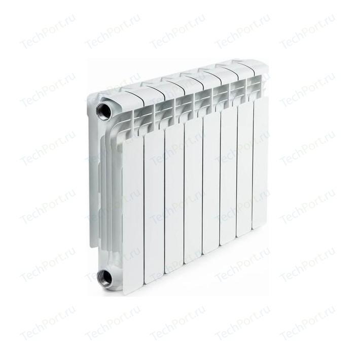 Радиатор алюминиевый RIFAR Alum 350 8 секций аллюминиевый боковое подключение (RAL35008) биметаллический радиатор rifar рифар b 500 нп 10 сек лев кол во секций 10 мощность вт 2040 подключение левое
