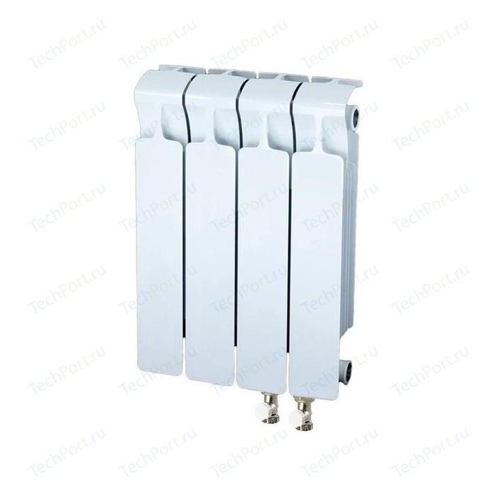 Радиатор отопления RIFAR MONOLIT VENTIL 350 4 секции биметаллический нижнее правое подключение (RM35004НП50) биметаллический радиатор rifar рифар b 500 нп 10 сек лев кол во секций 10 мощность вт 2040 подключение левое