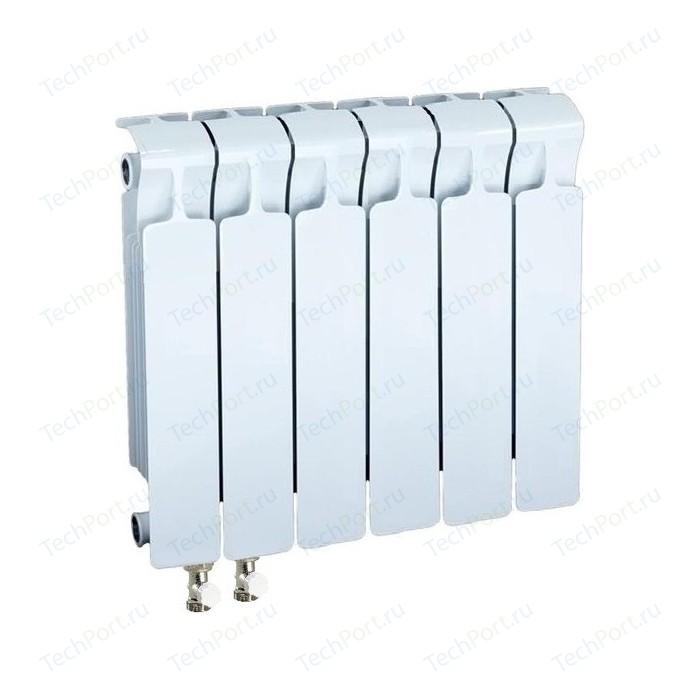 Радиатор отопления RIFAR MONOLIT VENTIL 350 6 секций биметаллический нижнее левое подключение (RM35006НЛ50) биметаллический радиатор rifar рифар b 500 нп 10 сек лев кол во секций 10 мощность вт 2040 подключение левое