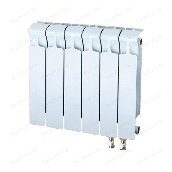 Радиатор отопления RIFAR MONOLIT VENTIL 350 6 секций биметаллический нижнее правое подключение (RM35006НП50) радиатор отопления rifar monolit ventil 500 6 секций биметаллический нижнее правое подключение rm50006 нп50