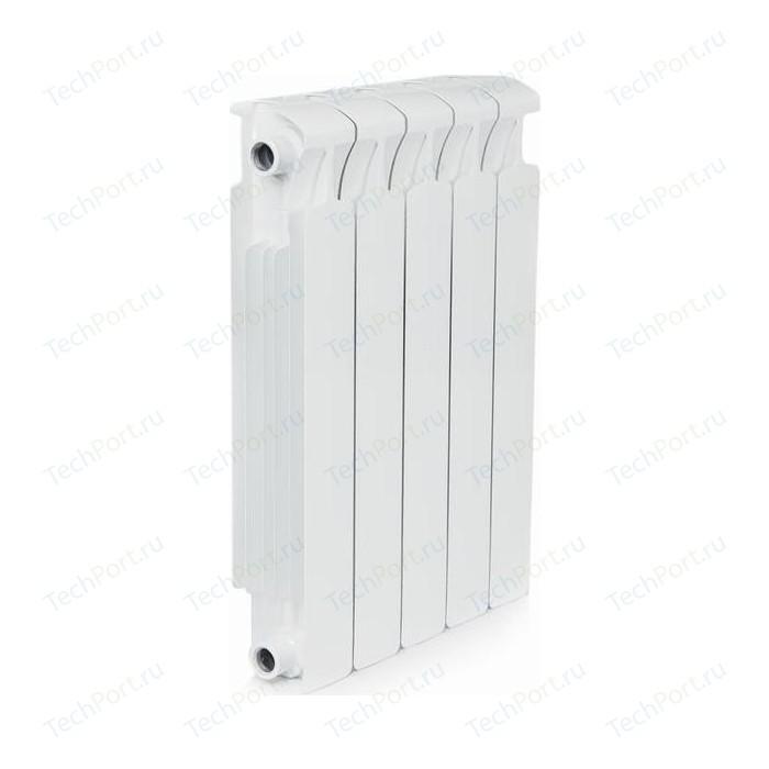 Радиатор отопления RIFAR MONOLIT 500 5 секций биметаллический боковое подключение (RM50005) биметаллический радиатор rifar рифар b 500 нп 10 сек лев кол во секций 10 мощность вт 2040 подключение левое