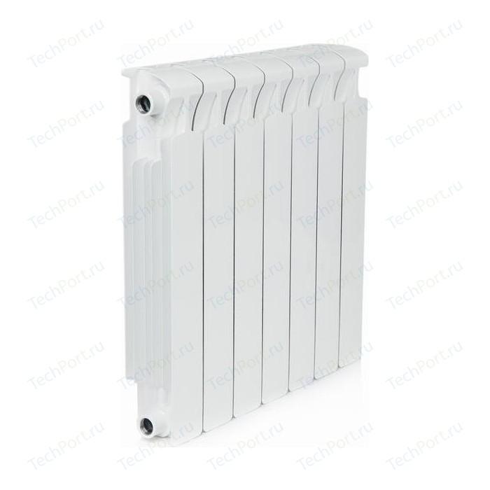 Радиатор отопления RIFAR MONOLIT 500 7 секций биметаллический боковое подключение (RM50007) биметаллический радиатор rifar рифар b 500 нп 10 сек лев кол во секций 10 мощность вт 2040 подключение левое
