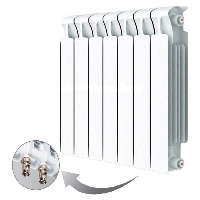 Радиатор отопления RIFAR MONOLIT VENTIL 500 7 секций биметаллический нижнее правое подключение (RM50007НП50) радиатор отопления rifar monolit ventil 500 mvr 12 секций биметаллический нижнее правое подключение rm50012 нп50