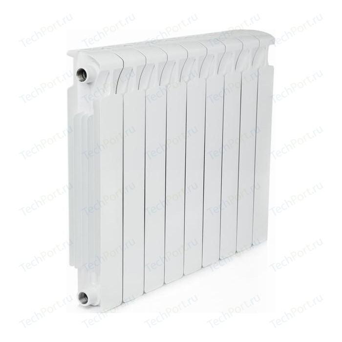 Радиатор отопления RIFAR MONOLIT 500 9 секций биметаллический боковое подключение (RM50009) биметаллический радиатор rifar рифар b 500 нп 10 сек лев кол во секций 10 мощность вт 2040 подключение левое