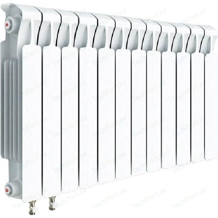 Радиатор отопления RIFAR MONOLIT VENTIL 500 12 секций биметаллический нижнее левое подключение (RM50012НЛ50) биметаллический радиатор rifar рифар b 500 нп 10 сек лев кол во секций 10 мощность вт 2040 подключение левое