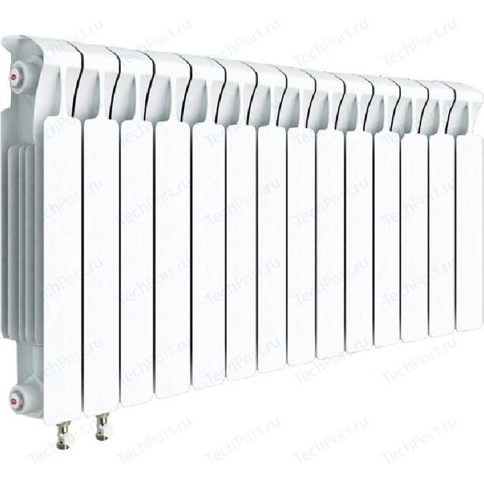 Радиатор отопления RIFAR MONOLIT VENTIL 500 14 секций биметаллический нижнее левое подключение (RM50014НЛ50) биметаллический радиатор rifar рифар b 500 нп 10 сек лев кол во секций 10 мощность вт 2040 подключение левое