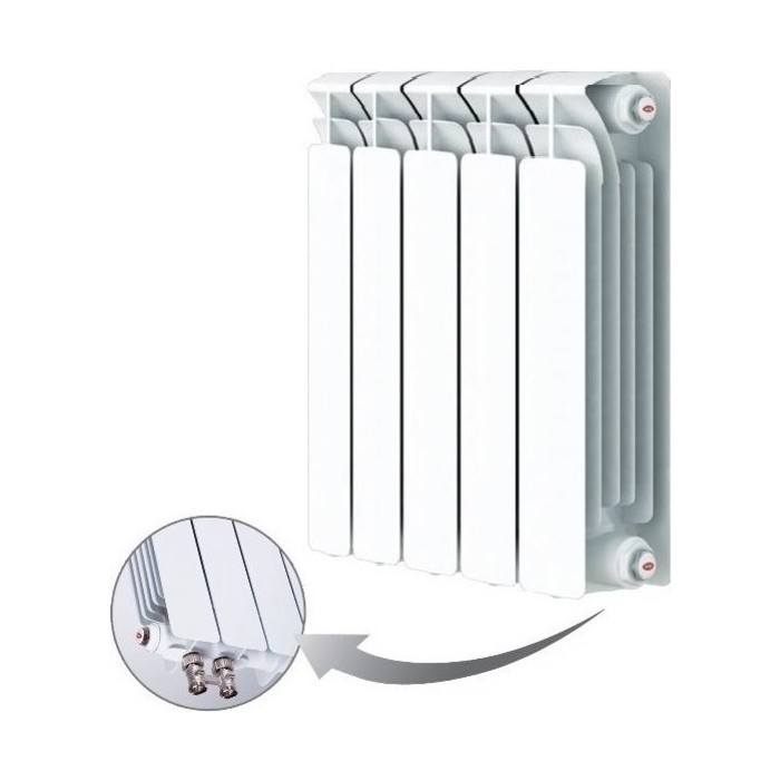 Радиатор отопления RIFAR BASE VENTIL 500 5 секций биметаллический нижнее правое подключение (R50005 НПП)