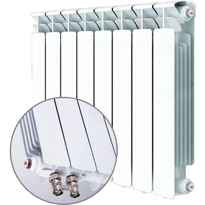Радиатор отопления RIFAR BASE VENTIL 500 8 секций биметаллический нижнее левое подключение (R50008 НПЛ) биметаллический радиатор rifar рифар b 500 нп 10 сек лев кол во секций 10 мощность вт 2040 подключение левое