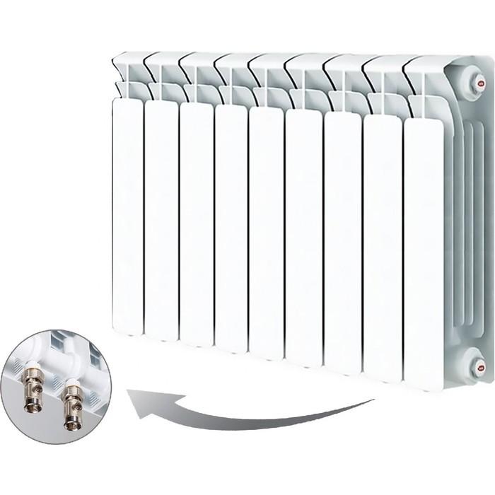 Радиатор отопления RIFAR BASE VENTIL 500 9 секций биметаллический нижнее правое подключение (R50009 НПП) биметаллический радиатор rifar рифар b 500 нп 10 сек лев кол во секций 10 мощность вт 2040 подключение левое