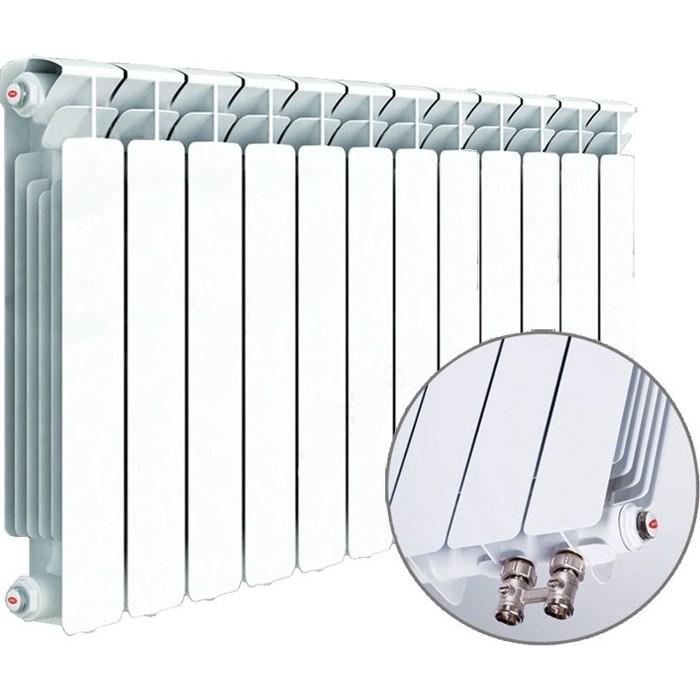 Радиатор отопления RIFAR BASE VENTIL 500 12 секций биметаллический нижнее левое подключение (R50012 НПЛ) биметаллический радиатор rifar рифар b 500 нп 10 сек лев кол во секций 10 мощность вт 2040 подключение левое