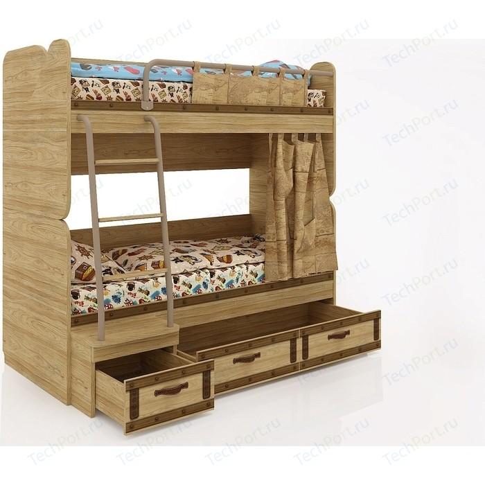 Кровать двухъярусная СКАНД-МЕБЕЛЬ Корсар-6. кровать двухъярусная сканд мебель корсар 6