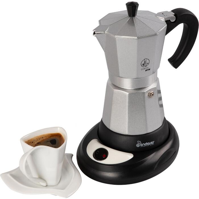 Гейзерная кофеварка Endever Costa-1010 серебристый