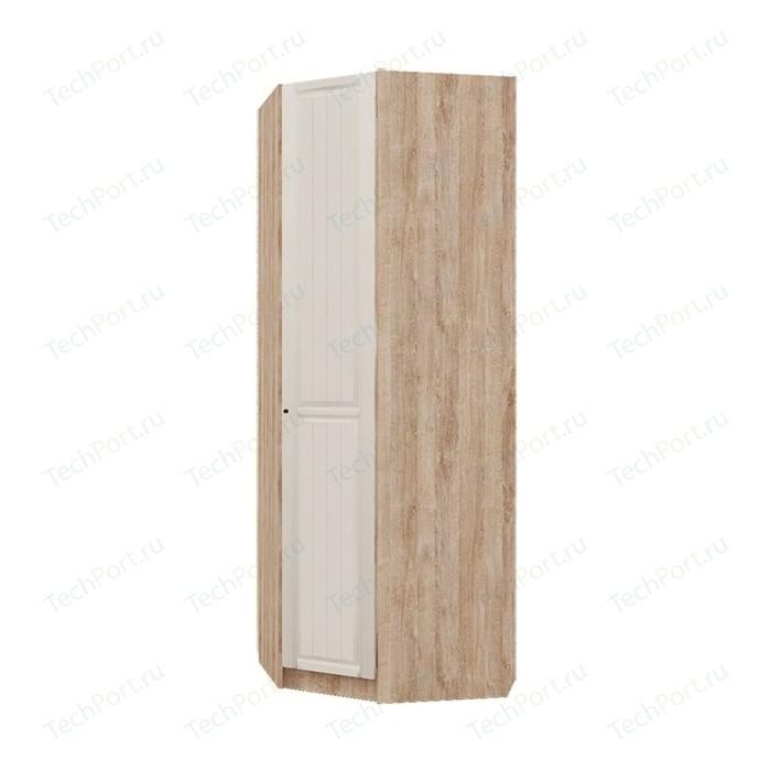 Шкаф угловой Комфорт - S Богуслава М 3 дуб баррик светлый/крем брюле правый