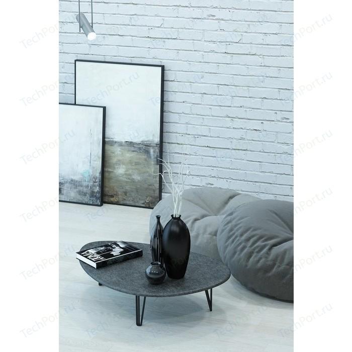 Столы журнальные Калифорния мебель Дадли Серый бетон недорого