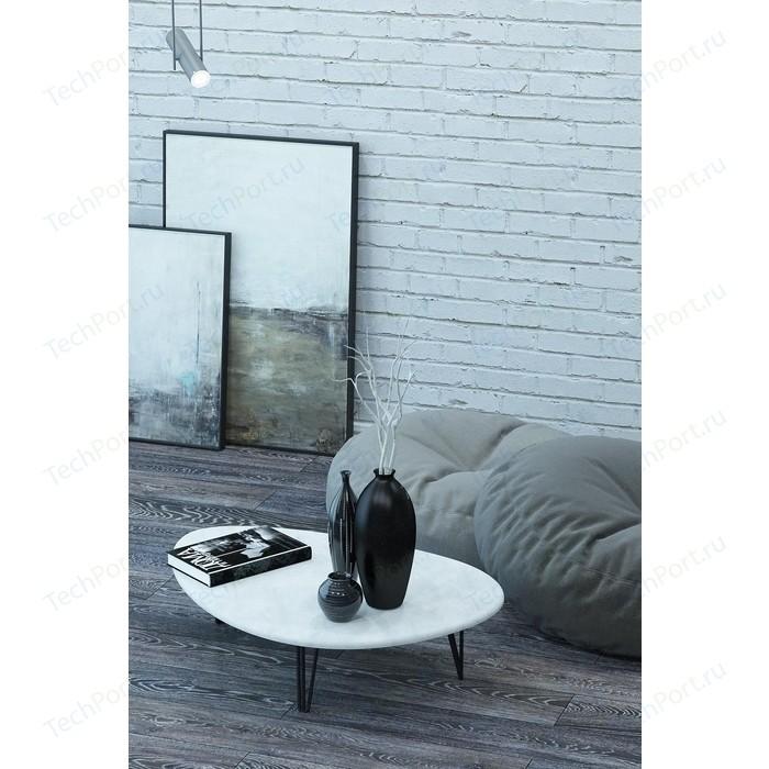 Столы журнальные Калифорния мебель Дадли Белый бетон журнальные столики
