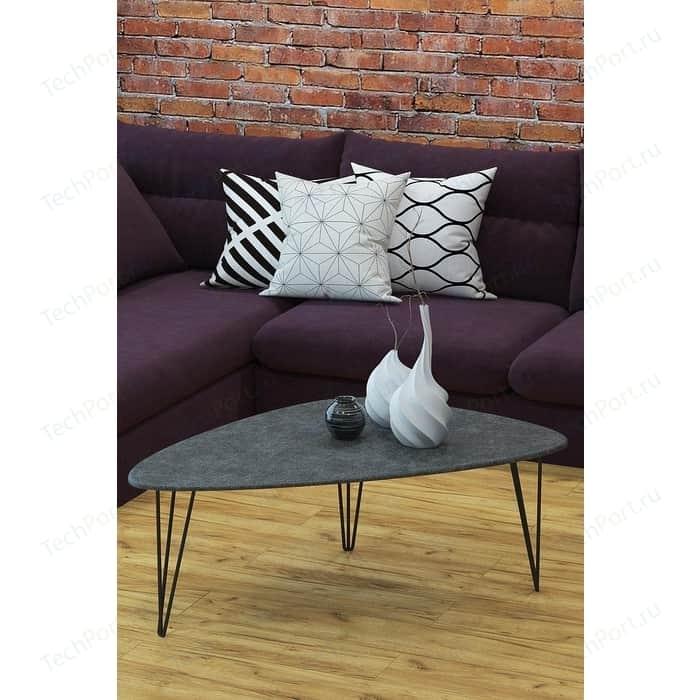 Столы журнальные Калифорния мебель Престон серый бетон
