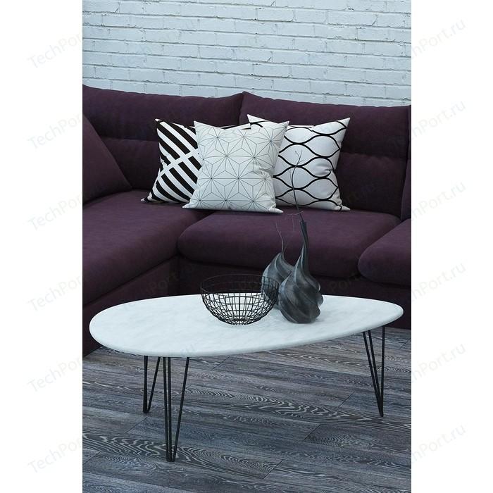 Столы журнальные Калифорния мебель Шеффилд Белый бетон