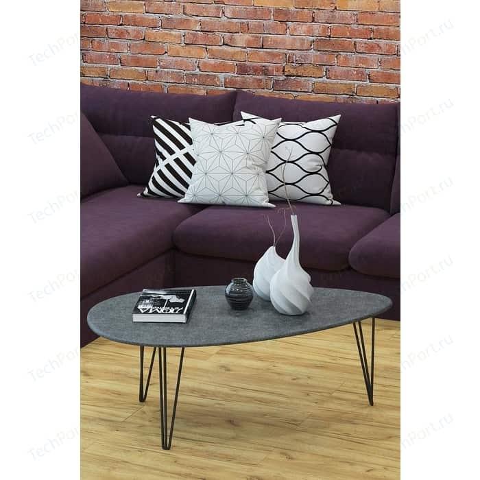 Стол журнальный Калифорния мебель Шеффилд Серый бетон
