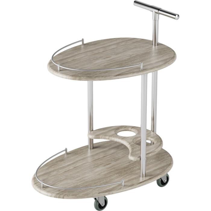 Столы сервировочные Калифорния мебель Фуршет Дуб беленый
