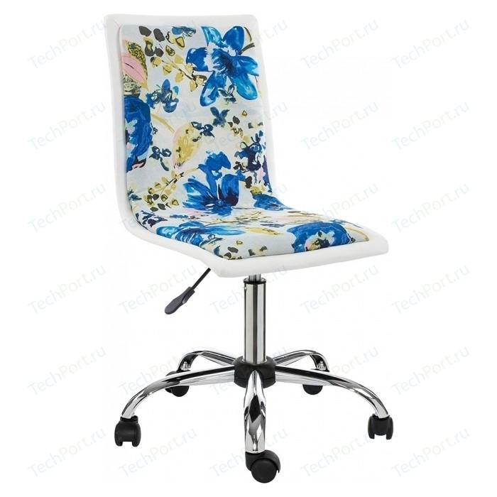 Компьютерное кресло Woodville Mis white/flowers fabric